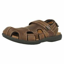 Mens Clarks UnBryman Bay Brown Leather Casual Closed Toe Sandals