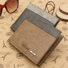 NEW MENS LUXURY SOFT QUALITY BIFOLD LEATHER WALLET CREDIT CARD HOLDER PURSE GIFT