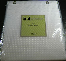 HOTEL COLLECTION SHOWER CURTAIN W/METAL GROMMETS-DOBBY WEAVE WHITE-70X72