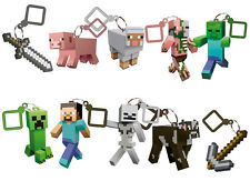 MINECRAFT 3D HANGERS BACK PACK CLIPS KEYRING KEYCHAIN BELT CLIP 3 INCH FREE SHIP
