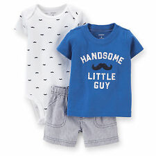 Carters Baby Boys 3-Piece Bodysuit & Short Set  3 6 9 12 18 24Months clothes
