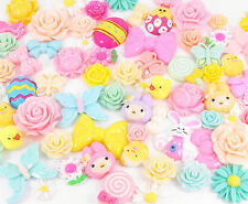 EASTER Themed Cute Cabochon Mix Set Decoden Kawaii Craft Kit  CHOOSE PACK SIZE