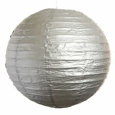 """Silver Paper Party Wedding Lanterns - 12"""", 16"""" and 20"""" sizes"""