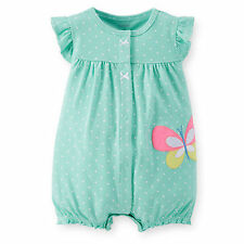 Carters Baby Girl Neon Appliqué Creeper  NB 3 6 9 12 18 24Months Clothes Cotton
