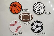 #2740 Basketball,Volleyball,Soccer,Baseball,Football Embroidery Applique Patch