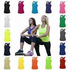 Womens Sports Gym Racer Back Running Vest Fitness Jogging Yoga Zumba Singlet Top