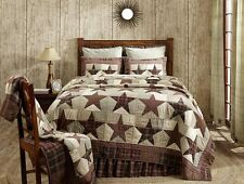 3pc Abilene Star Patchwork Quilted Bedding Set by VHC Brands - Quilt, 2 Shams