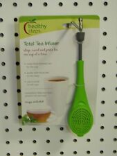 Jokari Healthy Steps Total TEA INFUSER Steeper Press Loose Tea or Bags