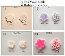 Rubber Flowers Flat 3D Nail Art Decorations DIY Scrapbook Craft work Card Making