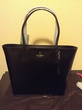 NWT KATE SPADE BLACK LEATHER SAWYER STREET MAXI