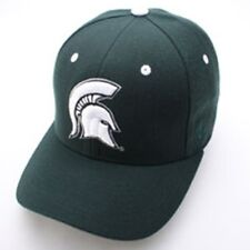 Michigan State Spartans Zephyr DHS Curved Bill Fitted Hat Cap Lid Football GREEN