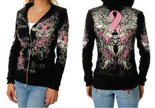 NWT Liberty Wear Breat Cancer Faith Hope Fearless  Hoodie Plus Size  USA 8059