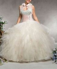 In Stock 2015 Quinceanera Pageant Dress Prom Ball Gown Sweetheart Size 6-18