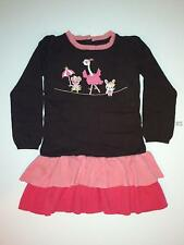 Gymboree Star of The Show Brown Circus Animals Ruffle Sweater Dress 4T 5T NWT