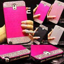 Bling Crystal Diamond Brushed Case Cover For Samsung Galaxy Note 4 S5 S4 ES9P