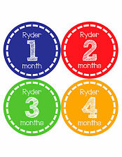 Personalized Baby Boy Monthly Stickers Custom Baby Name Boys Month Sticker 481