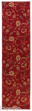 Custom Size Stair Hallway Runner Rug Rubber Back Non Skid RED Floral #1220