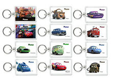 PERSONALISED CUSTOM DISNEY CARS CARTOON KIDS KEYRING BAG TAG -  Childrens Lunch