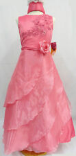 Little Girl Pageant Graudation Party ball evening Formal dress 4 6 8 10 Coral