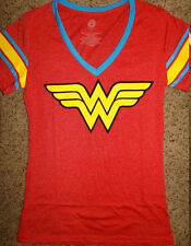 Wonder Woman Logo Dc Comics Womens Junior V-Neck T-Shirt