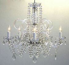 "Authentic Crystal Chandelier Chandeliers Lighting H25"" x W24"" Glass Clear Light"
