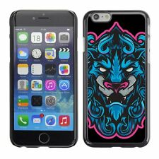 Hard Phone Case Cover Skin For Apple iPhone Cool Neon & Blue Tiger Illustration