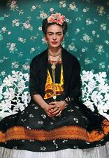 SUMPTUOUS COLOUR PHOTO PORTRAIT OF FRIDA KAHLO C.1937 V.2  A3 POSTER REPRINT