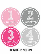 Baby Girl Monthly Baby Stickers 12 Month Age Sticker Just Born Photo #183