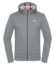 THE NORTH FACE MEN'S MITTELLEGI FULL ZIP HOODIE JACKET / ASPHALT GREY HEATHER