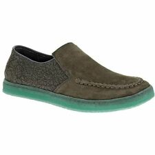Hush Puppies Mens GREGORY AQUAICE Charcoal Gray Slip On Loafers Shoes