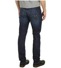 NWT 7 For All Mankind Men's Straight Jeans 3-D Squiggle Aggressive LA Dark