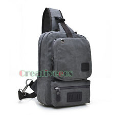 Unisex Canvas Travel Hiking Riding Back pack Shoulder Sling Messenger Chest Bag
