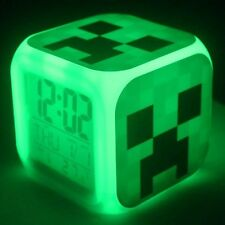NEW ' Minecraft Alarm Clock with Color Changing Lights ' 23 Themes Available '