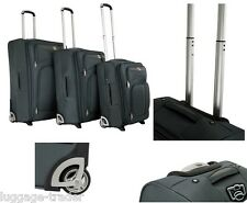 Extra Strong Large 2 Wheel Medium Small Cabin Trolley Luggage Suit Case Travel