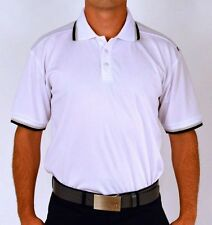White SUB70 SubSeventy Mens Mitchell PolarDry Performance Golf Pique Polo Shirt
