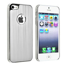 2x Luxury Brushe Metal Aluminum Chrome Hard Case Cover for Apple iPhone 5 5G 5S