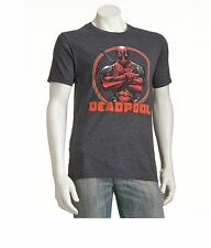 Marvel Deadpool Men's T-Shirt Gray - NEW