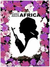 High Quality POSTER on Paper or Cotton Canvas.Art.Solidarity with Africa.4110