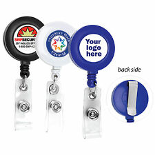 25 PCS CUSTOMIZE RETRACTABLE ID BADGE REEL WITH YOUR LOGO FULL COLOR ID BADGES