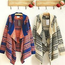 Casual Women Cape Batwing Wool Poncho Jacket Lady Winter Warm Cloak Coat Sweater