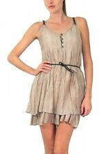 Sundress Button Down Blouse Top Layered Mini Skirt Belted Dress Double Zero NEW