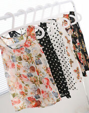 11 Color Sexy Women Chiffon Sleeveless Blouse T-Shirt Crew Neck Vest Tank Tops