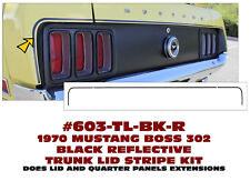 603-TL 1970 FORD MUSTANG - BOSS 302 TRUNK STRIPE KIT - THREE PIECES