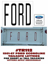 TR112 1961-67 FORD ECONOLINE PICKUP TRUCK - TAILGATE LETTERS - DECAL - LICENSED