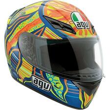AGV K3 Valentino Rossi 46 5 Continents Full Face Motorcycle Helmet Blue Yellow