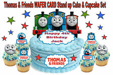THOMAS THE TANK ENGINE Personalised Birthday Cake Topper Edible WAFER Stand Up