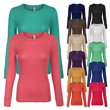 Women's Lightweight Thermal Long Sleeve Crew Neck T Shirt with Stretch