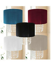 HOUSEHOLD CEILING PENDANT DROPLETS LIGHT SHADE CHANDELIER 5 COLOURS TO CHOOSE