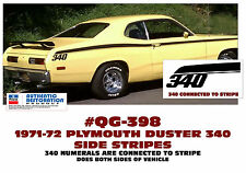 QG-398 1971-72 PLYMOUTH DUSTER 340 - SIDE STRIPE KIT - 340 CONNECTED TO STRIPE