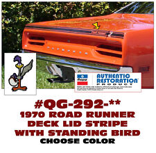 QG-292 1970 PLYMOUTH ROAD RUNNER - DECK LID STRIPE & STANDING BIRD - 6 COLORS